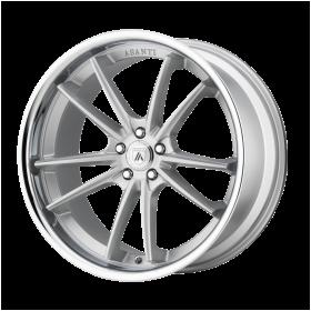 Asanti Black Custom Wheels ABL-23 DELTA SILVER