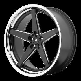 Adventus Custom Wheels AVS-2 BLACK MILLED SS