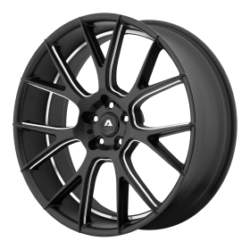 Adventus Custom Wheels AVX-7 BLACK MILLED