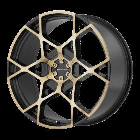 KMC Custom Wheels KM695 CROSSHAIR MACHINED TINTED