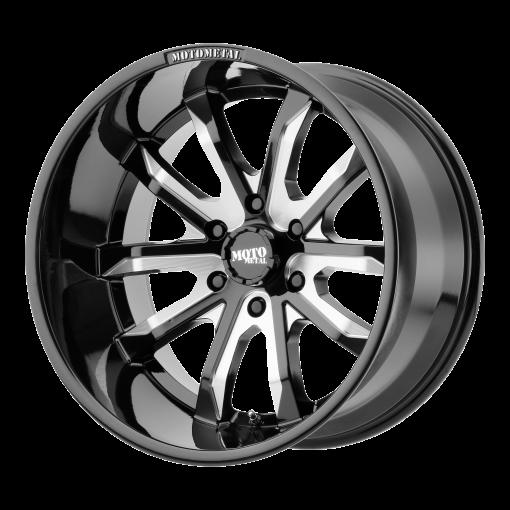 Moto Metal Custom Wheels MO983 DAGGER BLACK MILLED