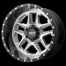 Moto Metal Custom Wheels MO987 SENTRY SILVER BLACK