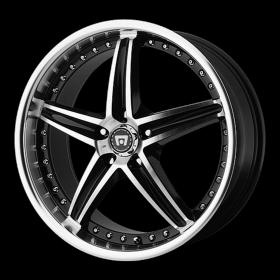 Motegi Custom Wheels MR107 MACHINED BLACK