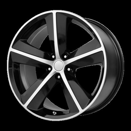 OE Creations Wheels PR123 GLOSS BLACK/MACHINED SPOKES AND LIP
