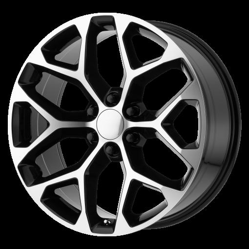OE Creations Wheels PR176 GLOSS BLACK MACHINED