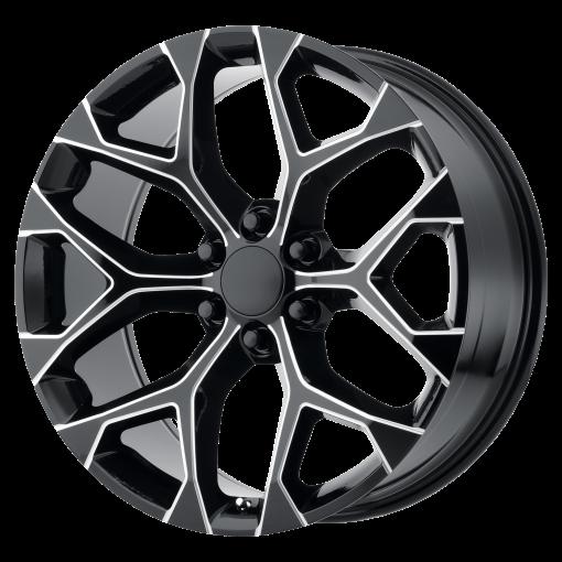 OE Creations Wheels PR176 GLOSS BLACK MILLED