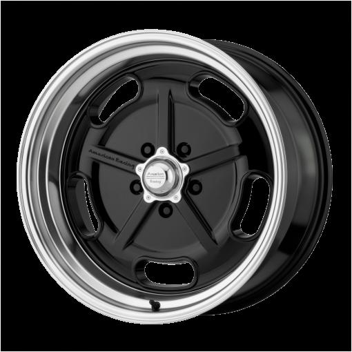 American Racing Wheels VN511 SALT FLAT GLOSS BLACK DIAMOND CUT LIP