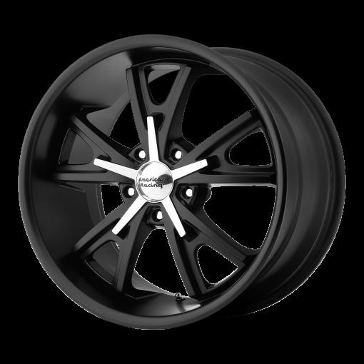 American Racing Wheels VN801 DAYTONA SATIN BLACK WITH MACHINED FACE