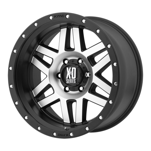 XD Series Custom Wheels XD128 MACHETE MACHINED BLACK