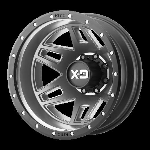 XD Series Wheels XD130 MACHETE DUALLY GRAY BLACK