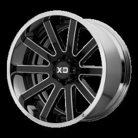 XD Series Custom Wheels XD200 HEIST BLACK MILLED CHROME