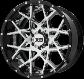 XD Series Custom Wheels XD203 CHOPSTIX CHROME BLACK
