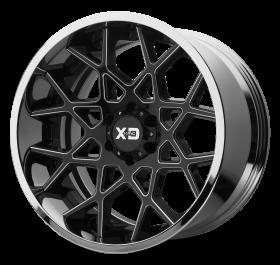 XD Series Custom Wheels XD203 CHOPSTIX BLACK MILLED CHROME