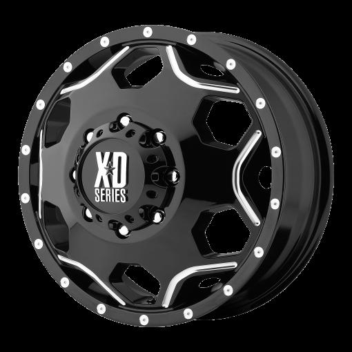 XD Series Custom Wheels XD814 CRUX BLACK MILLED