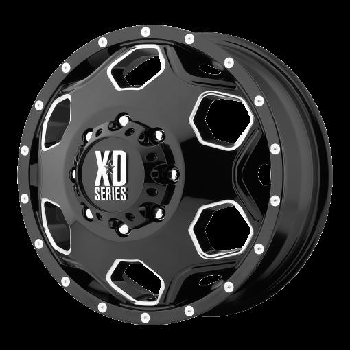 XD Series Custom Wheels XD815 BATALLION BLACK MILLED