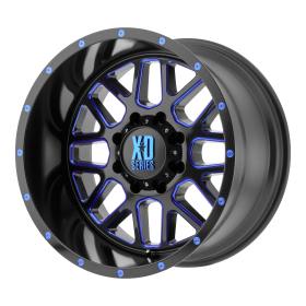 XD Series Custom Wheels XD820 GRENADE BLACK MILLED BLUE