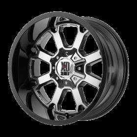 XD Series Custom Wheels XD825 BUCK 25 CHROME PVD BLACK