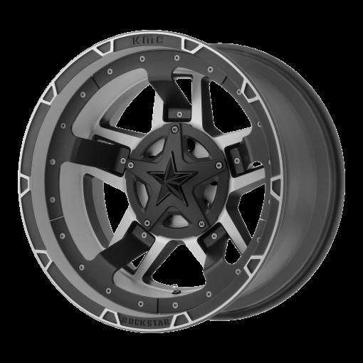 XD Series Custom Wheels XD827 ROCKSTAR III MACHINED BLACK