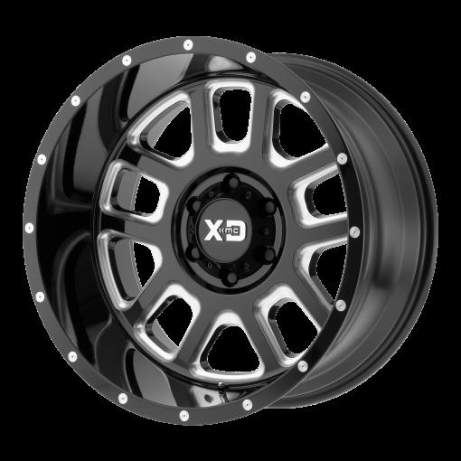 XD Series Custom Wheels XD828 DELTA BLACK MILLED