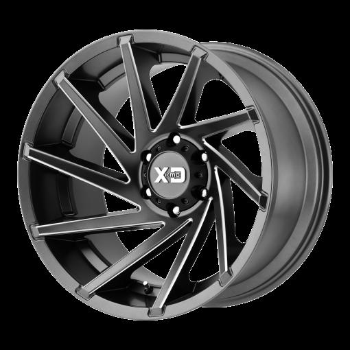 XD Series Custom Wheels XD834 CYCLONE GRAY MILLED