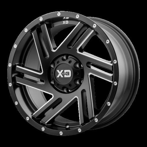 XD Series Custom Wheels XD835 SWIPE BLACK MILLED