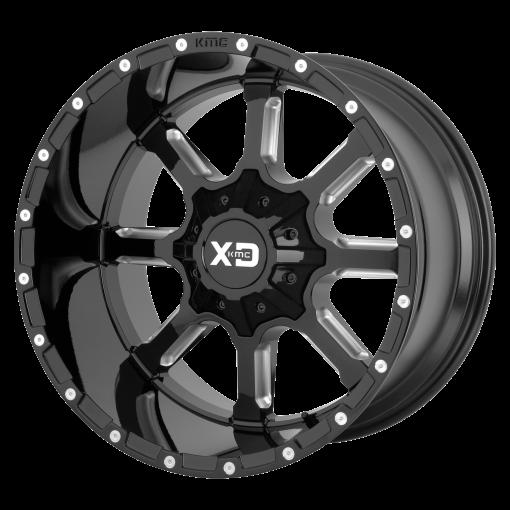 XD Series Custom Wheels XD838 MAMMOTH BLACK MILLED