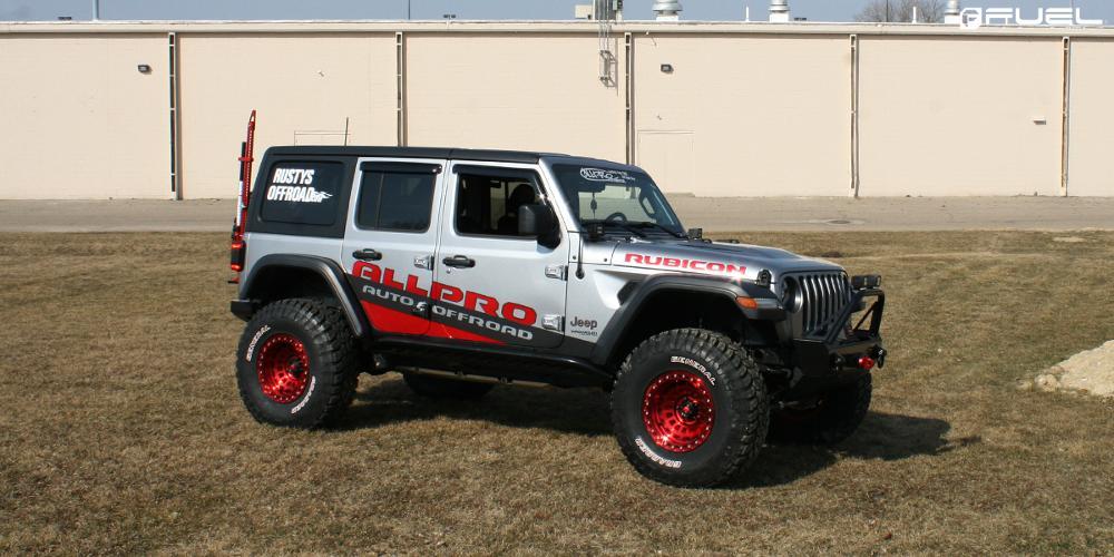 Jeep Wrangler 17x9 Fuel Zephyr Beadlock D100 Wheels