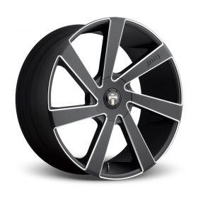 DUB Custom Wheels DIRECTA S133 MATTE BLACK MILLED