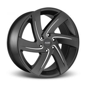 Foose Custom Wheels F167 BODINE MATTE BLACK MILLED
