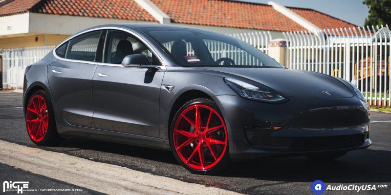 Tesla Model 3 20x9 Niche Misano M186 Wheels