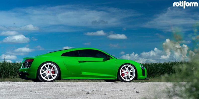 Audi R8 20x9.5 Rotiform KPS Wheels