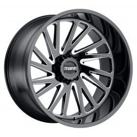 TUFF Custom Wheels T2A BLACK MILLED