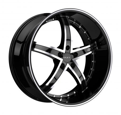 Ruff Custom Wheels R953 MACHINED BLACK