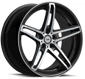 TIS Custom Wheels 536MB GLOSS MACHINED BLACK