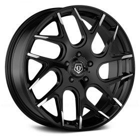 TIS Custom Wheels 542MBT GLOSS BLACK MILLED