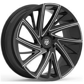 TIS Custom Wheels 546BM GLOSS BLACK MILLED