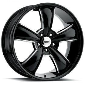 Cragar Custom Wheels 615BM Modern Muscle GLOSS BLACK MILLED