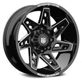 Dropstars Custom Wheels 653BM Deep Concave GLOSS BLACK MILLED