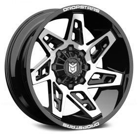 Dropstars Custom Wheels 653MB Deep Concave GLOSS MACHINED BLACK