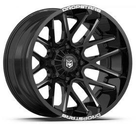 Dropstars Custom Wheels 654BM Deep Concave GLOSS BLACK MILLED