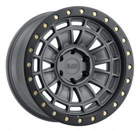 Black Rhino Custom Wheels DALTON MATTE GUNMETAL W/BLACK LIP EDGE & BRASS BOLTS