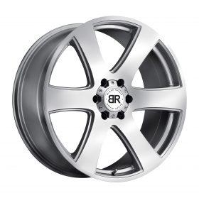 Black Rhino Custom Wheels HAKA SILVER W/MACHINE CUT FACE