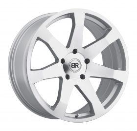 Black Rhino Custom Wheels MOZAMBIQUE SILVER W/MIRROR CUT FACE