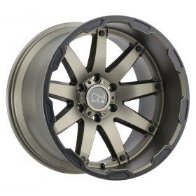 Black Rhino Custom Wheels OCEANO MATTE BRONZE W/BLACK LIP EDGE