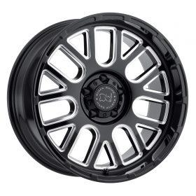Black Rhino Custom Wheels PISMO GLOSS BLACK W/MILLED SPOKES