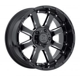 Black Rhino Custom Wheels SIERRA BLACK MILLED