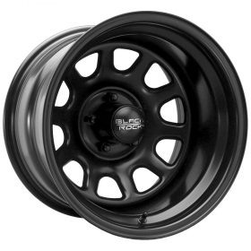 Black Rock Custom Wheels 942B Black D-Window MATTE BLACK