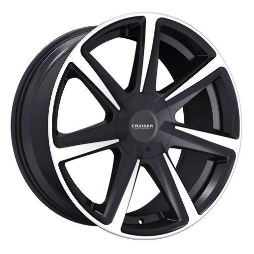 Cruiser Alloy Wheels 922MB Kinetic GLOSS BLACK MACHINED