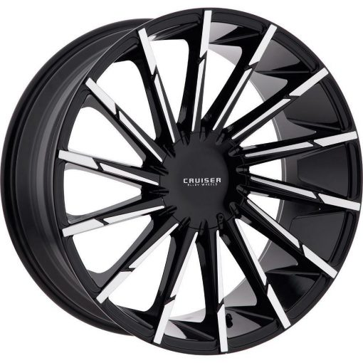 Cruiser Alloy Wheels 924MB Stiletto GLOSS BLACK MACHINED