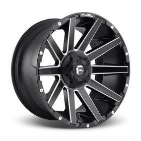 Fuel Custom Wheels CONTRA D616 MATTE BLACK MILLED